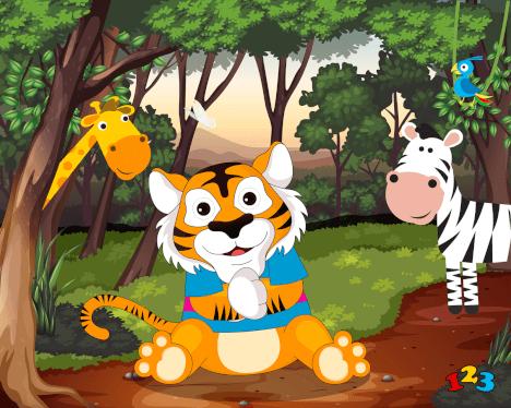 Vinkende tiger