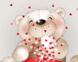 Søde valentinskort